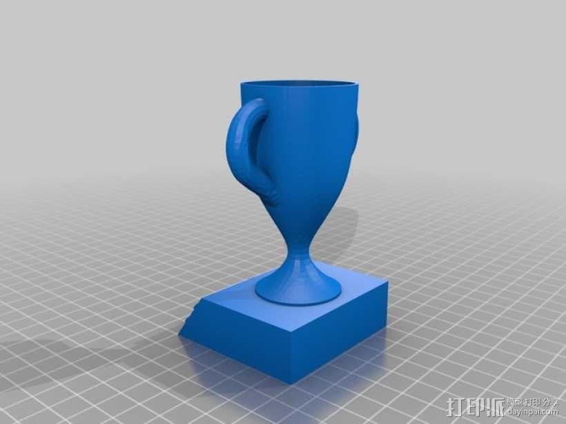 1,2,3名奖杯 3D模型  图3