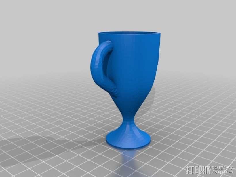 1,2,3名奖杯 3D模型  图4