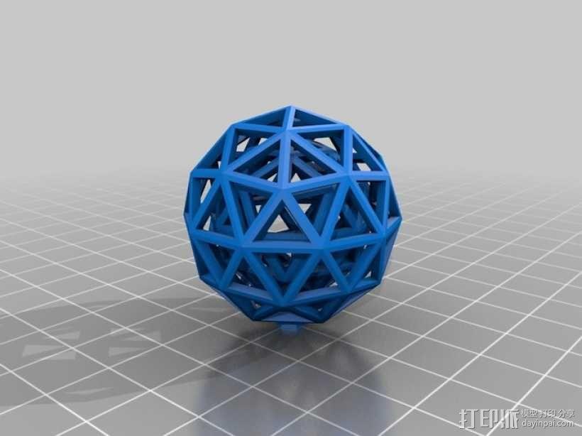 双层球 球中球 3D模型  图3