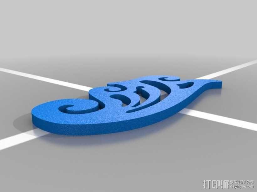 曲线板 曲线尺 3D模型  图6