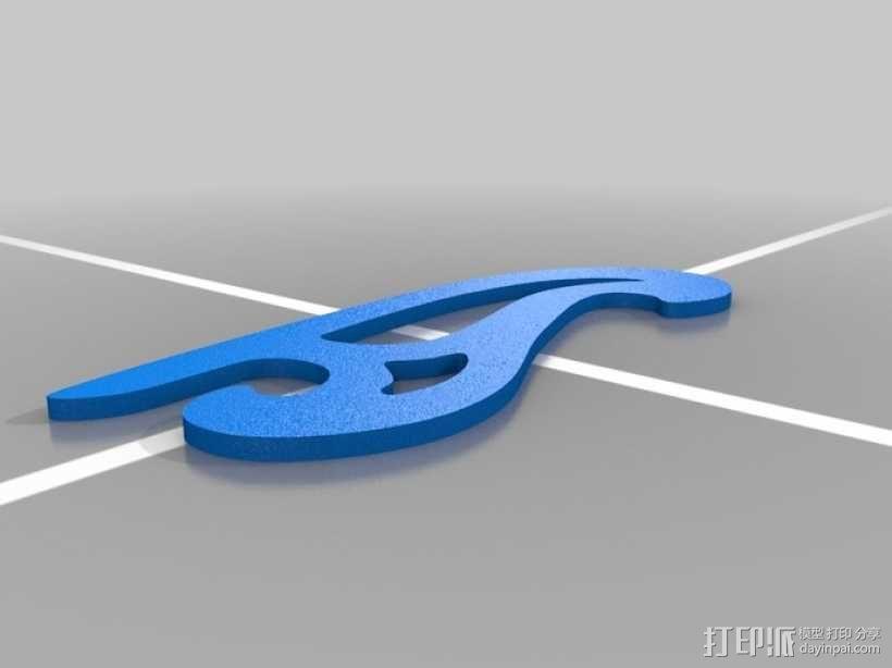 曲线板 曲线尺 3D模型  图7