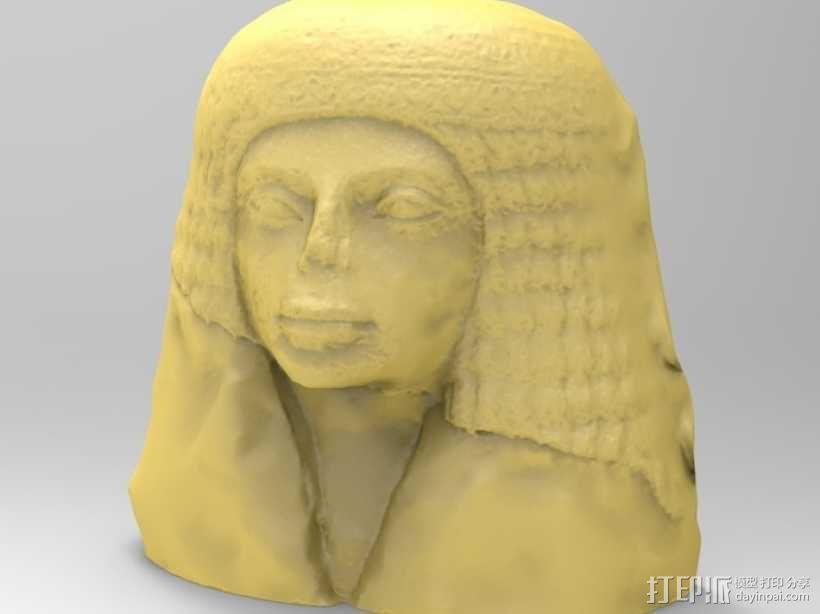 埃及女性头像雕塑 3D模型  图1