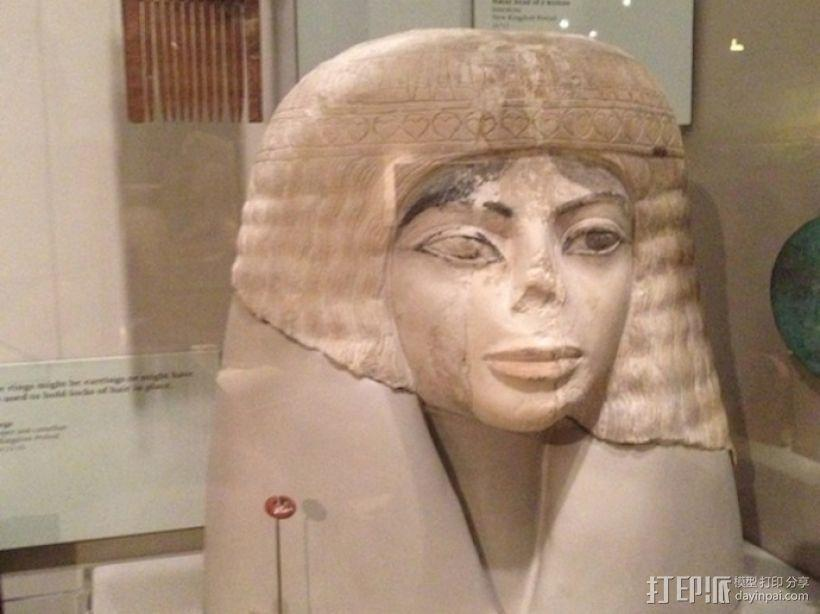 埃及女性头像雕塑 3D模型  图2