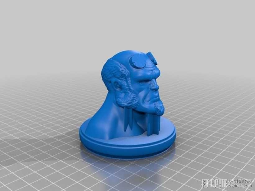 地狱男爵半身像模型 3D模型  图2