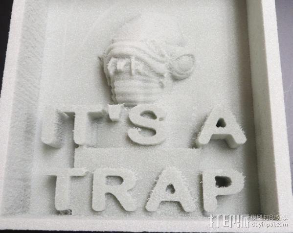 It's a Trap标志 3D模型  图5
