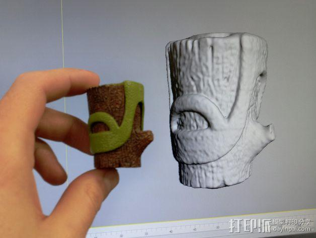 树桩模型  3D模型  图1