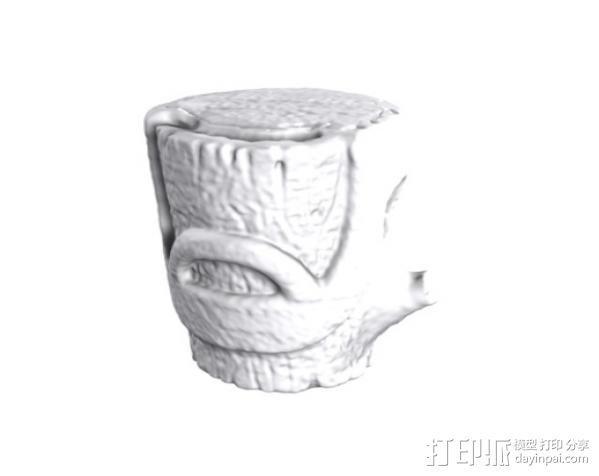 树桩模型  3D模型  图3