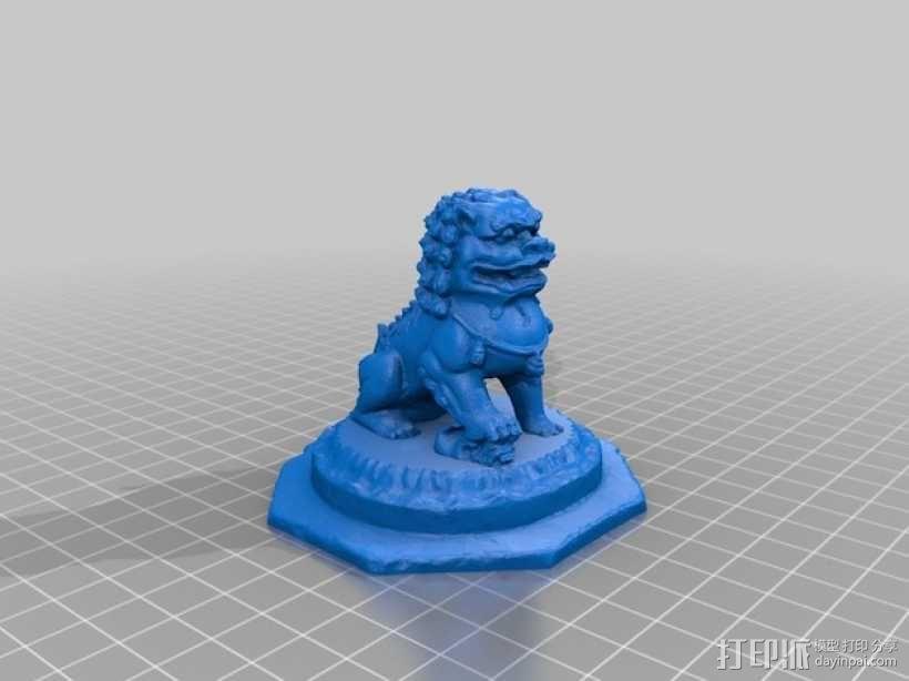 石狮子 3D模型  图1