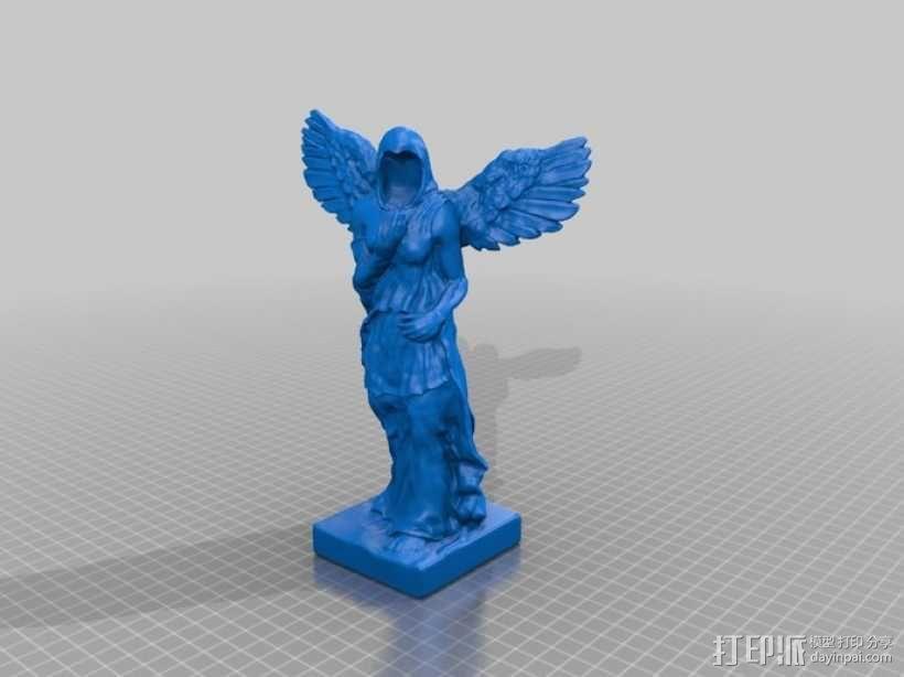 天使雕像 3D模型  图1