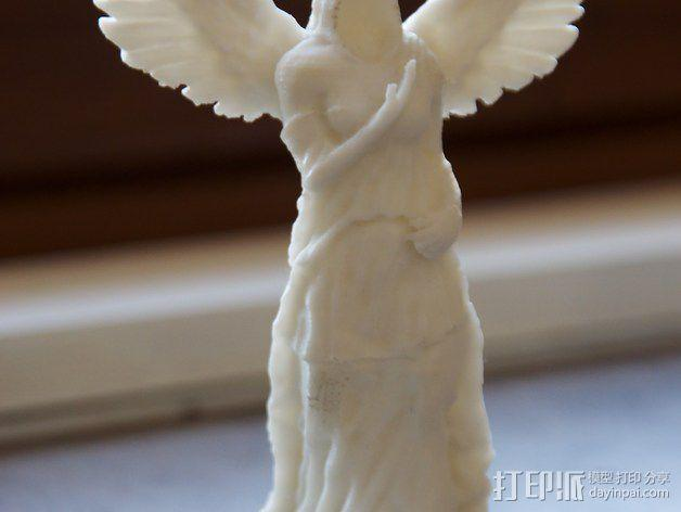 天使雕像 3D模型  图2
