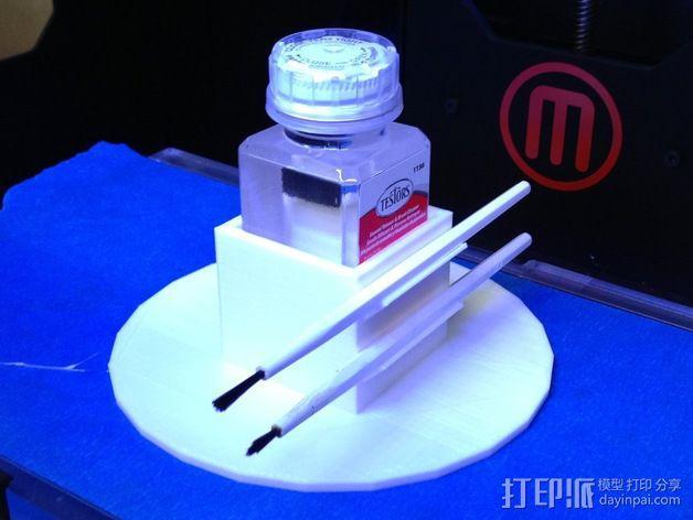 涂料架 瓶架 3D模型  图2
