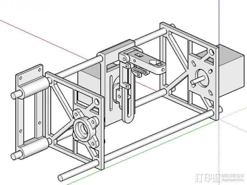 刻字机 3D模型  图1