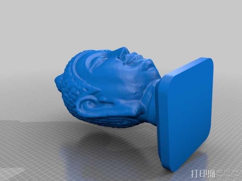 如来佛头像雕塑 3D模型  图4