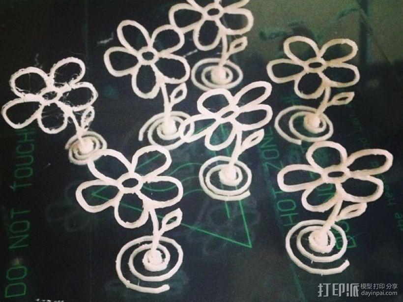 五瓣花 3D模型  图1
