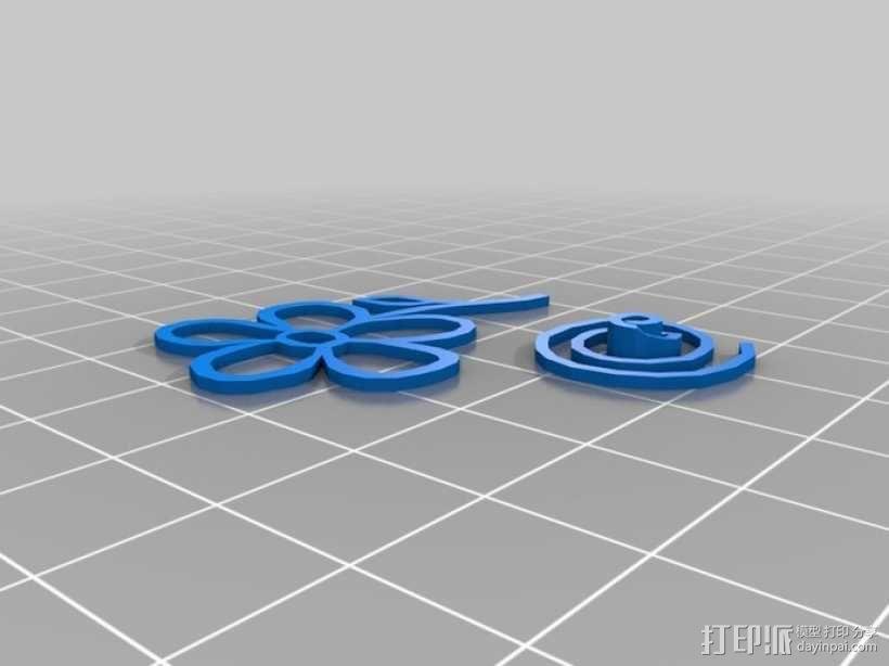 五瓣花 3D模型  图2