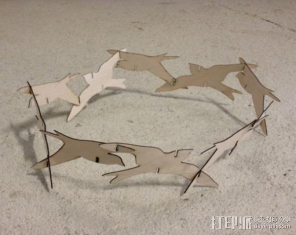 小鸟灯罩 3D模型  图6