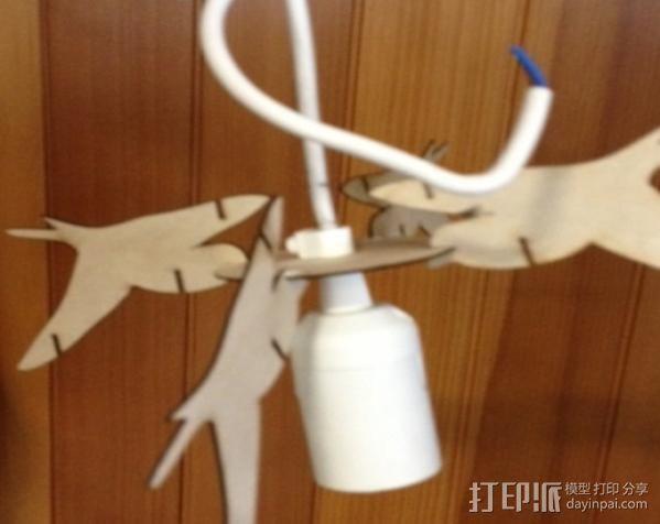 小鸟灯罩 3D模型  图5