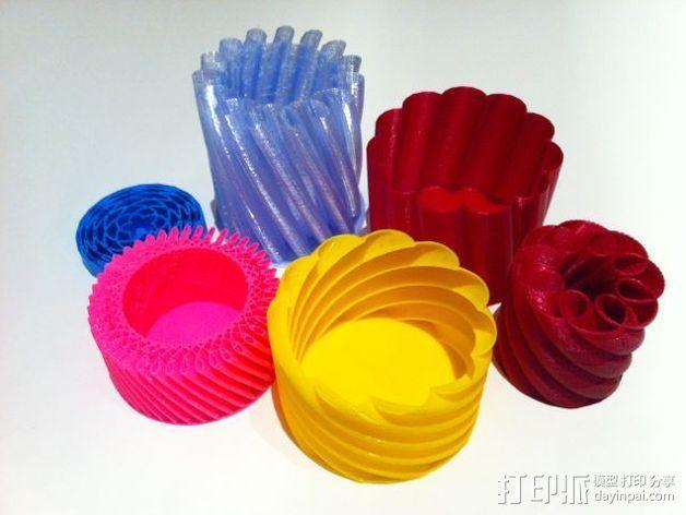 螺旋形花瓶 3D模型  图2