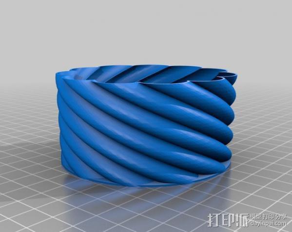 螺旋形花瓶 3D模型  图6