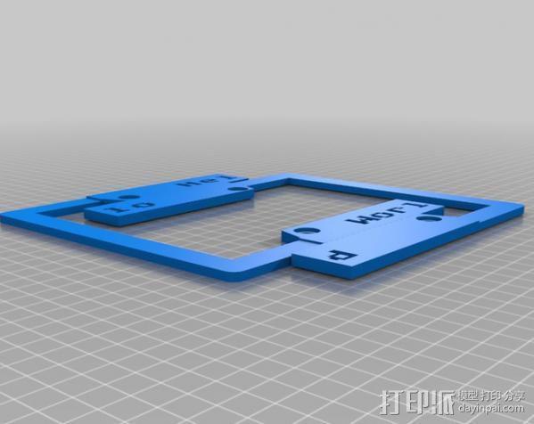 车牌照 车牌框 3D模型  图3