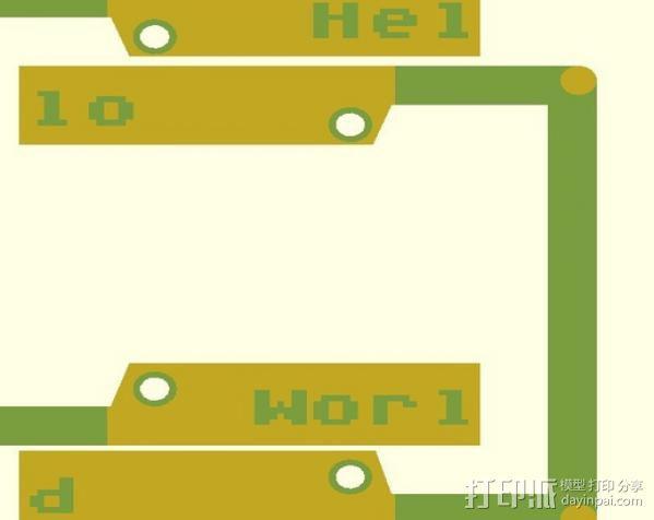 车牌照 车牌框 3D模型  图2