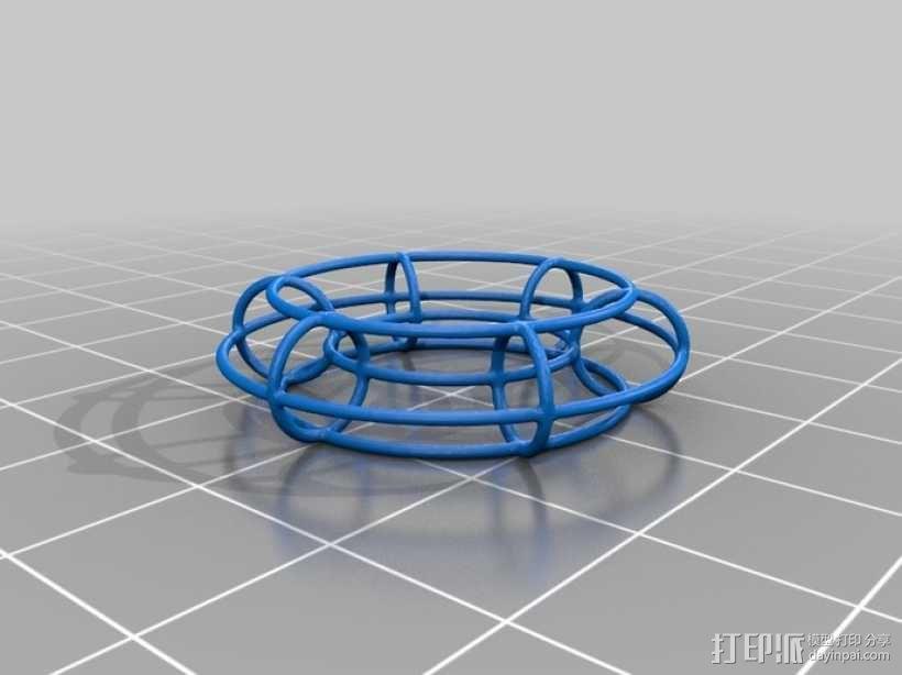 线框式花托 3D模型  图1