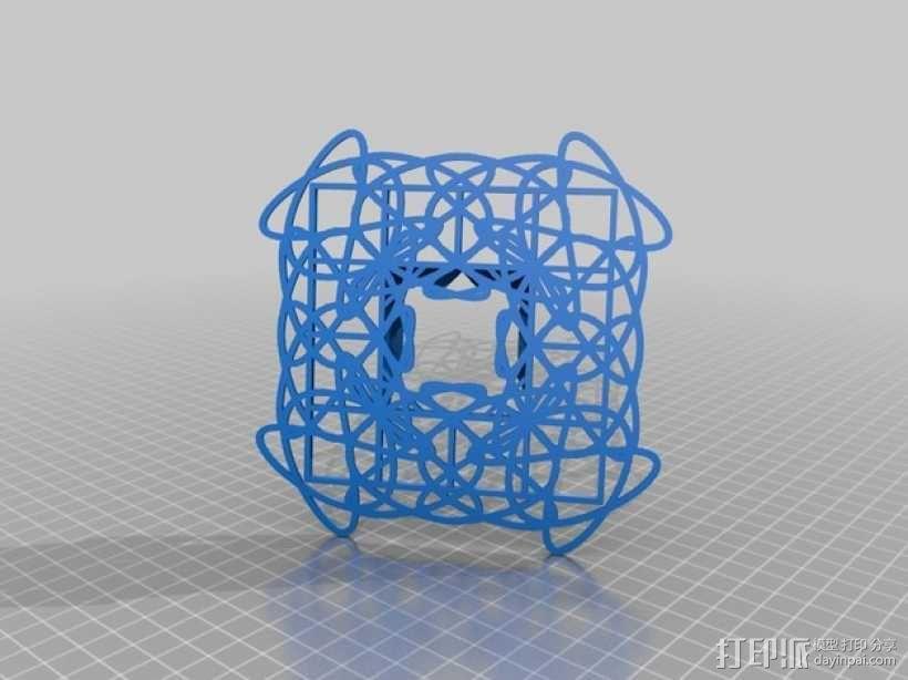 利萨茹相框 3D模型  图1