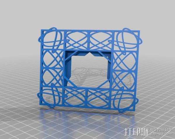 利萨茹相框 3D模型  图2