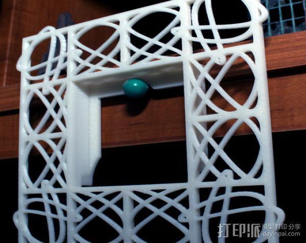 利萨茹相框 3D模型  图4