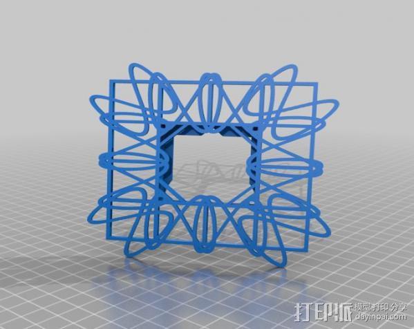 利萨茹相框 3D模型  图6