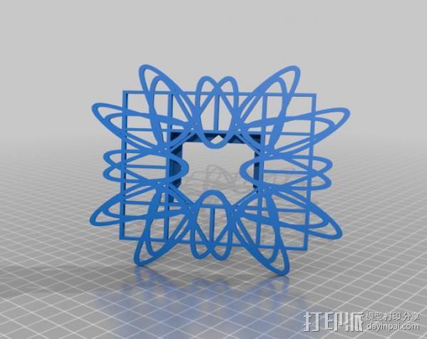 利萨茹相框 3D模型  图10