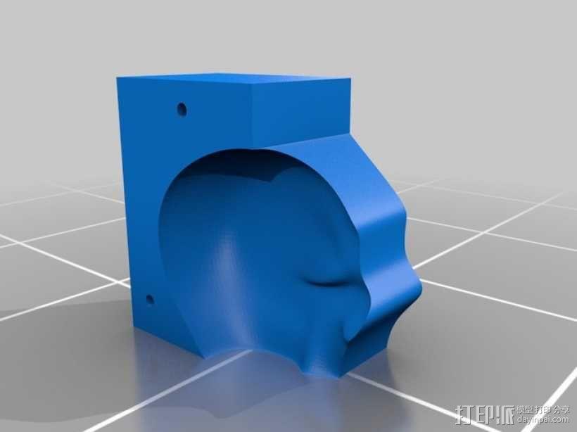 Lisa头骨模型模具 3D模型  图1