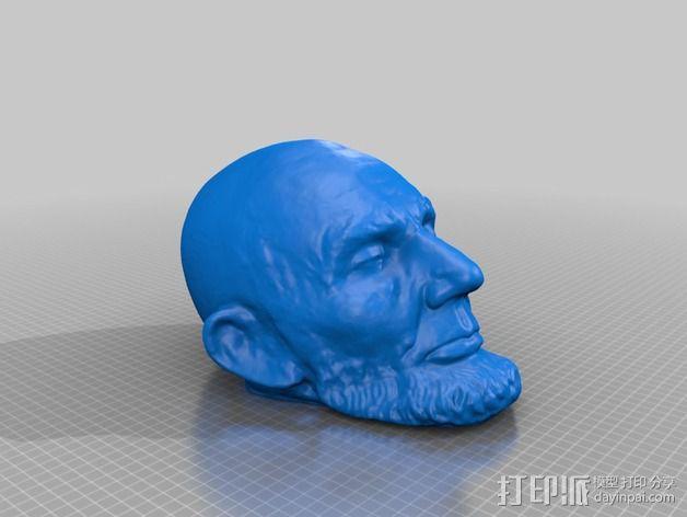 林肯面具 3D模型  图1