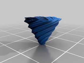 螺旋形科赫雪花花瓶 3D模型