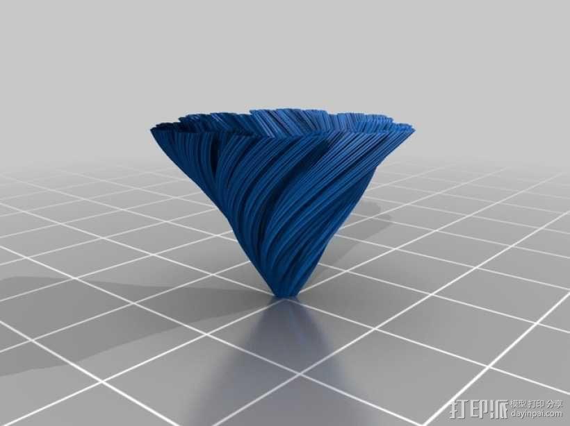 螺旋形科赫雪花花瓶 3D模型  图4