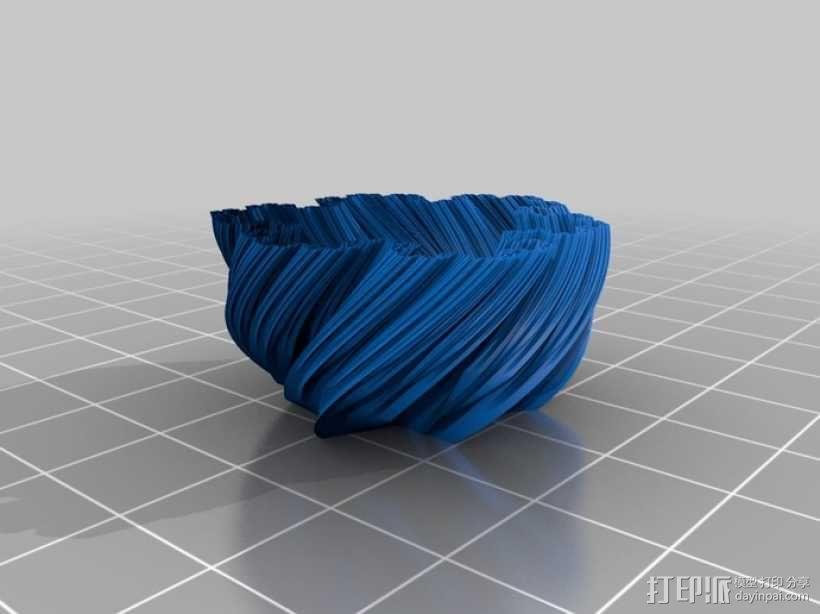 螺旋形科赫雪花花瓶 3D模型  图5