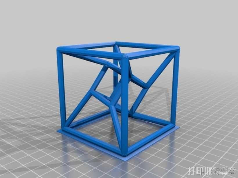 参数化线框式超正方体 3D模型  图1
