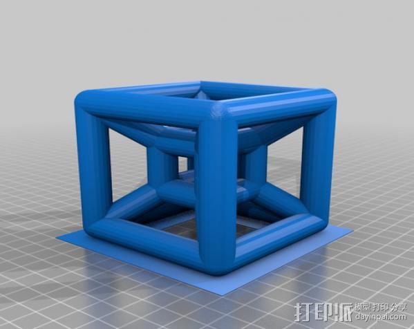参数化线框式超正方体 3D模型  图3