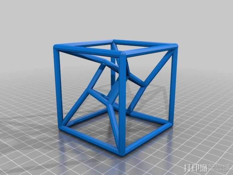 参数化线框式超正方体 3D模型  图5