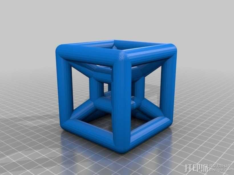 参数化线框式超正方体 3D模型  图4