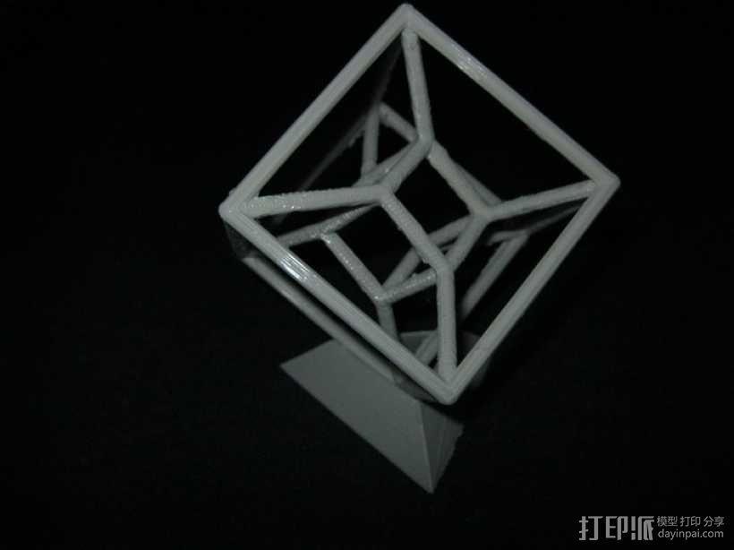 参数化线框式超正方体 3D模型  图6
