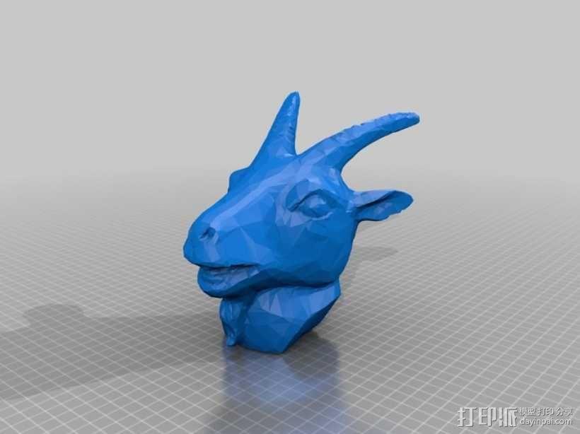 十二生肖羊头模型 3D模型  图1