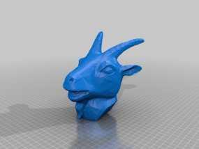 十二生肖羊头模型 3D模型