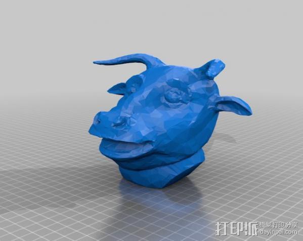 十二生肖 牛头模型 3D模型  图1