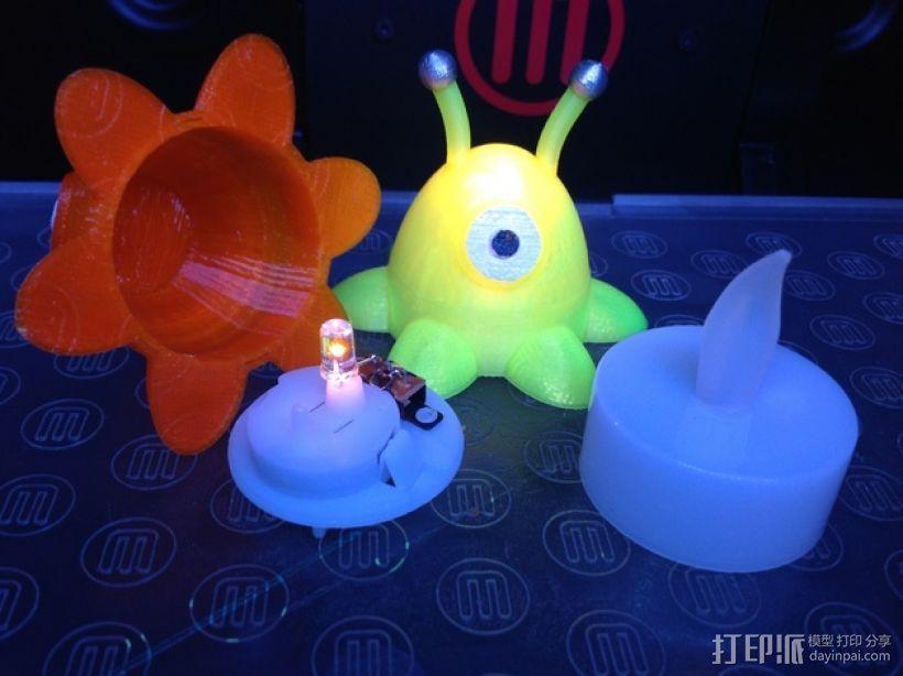 迷你圣诞LED彩灯 3D模型  图2