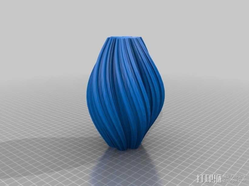 科赫曲线花瓶 3D模型  图1