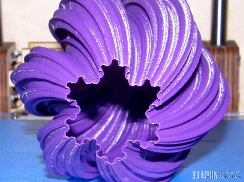 科赫曲线花瓶 3D模型  图2