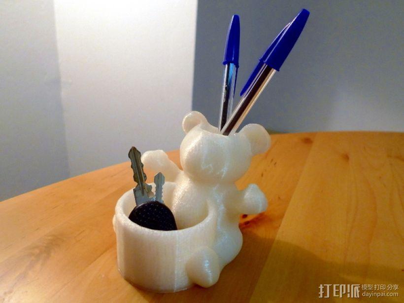 小熊笔筒 3D模型  图2