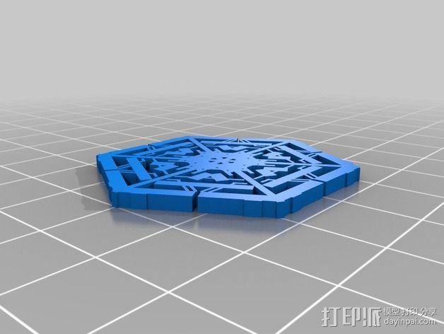参数化雪花片模具 3D模型  图4