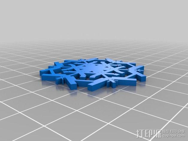 参数化雪花片模具 3D模型  图6